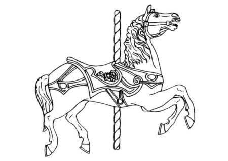 Carousal Horse Coloring Page