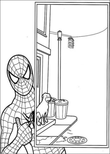 Coloring Page Of Spiderman