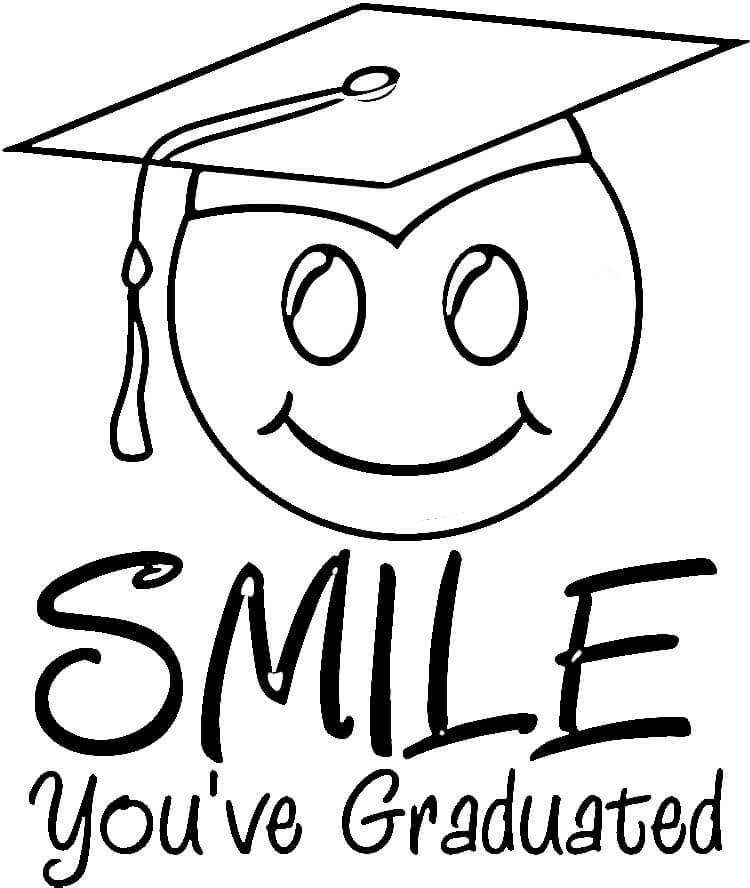 Coloring Pages Of Kids Graduation