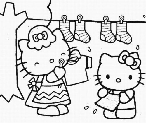 Coloring Pictures of Hello Kitty