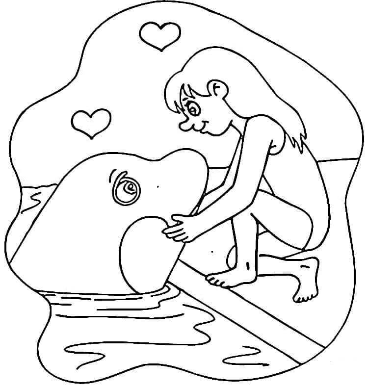 Cute Orca coloring page