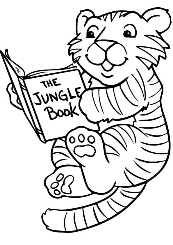 Cute Tiger coloring pages free printable