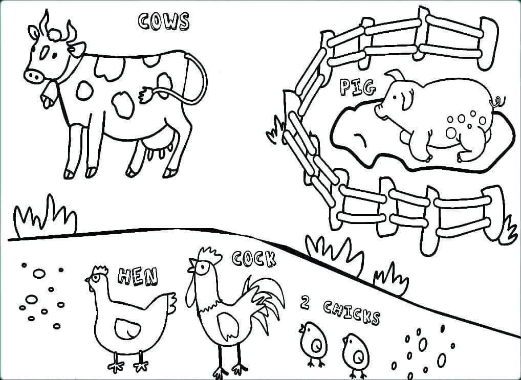 Farm animals coloring images