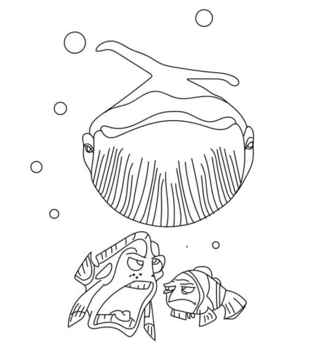 Finding Nemo Whale coloring page