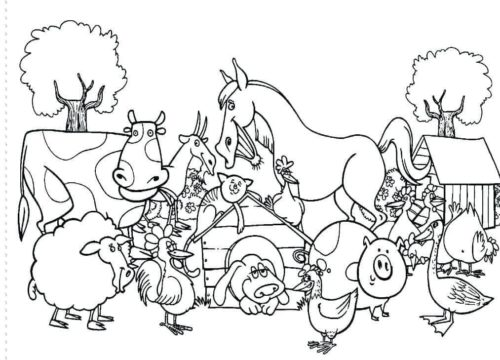 Free Farm Animal coloring pages printable