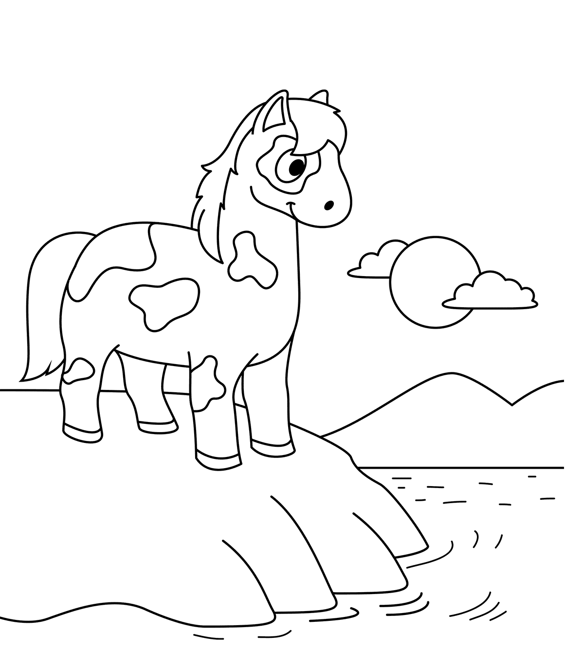 Free Horse Coloring Pages Printable