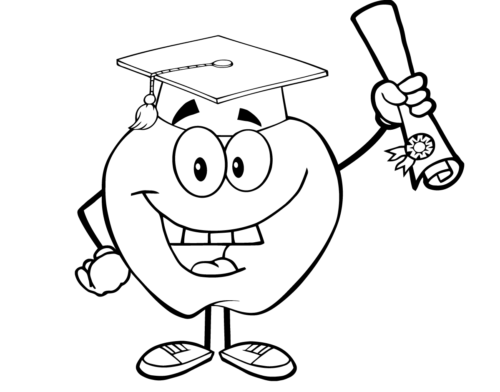 Free Printable Graduation Coloring Page