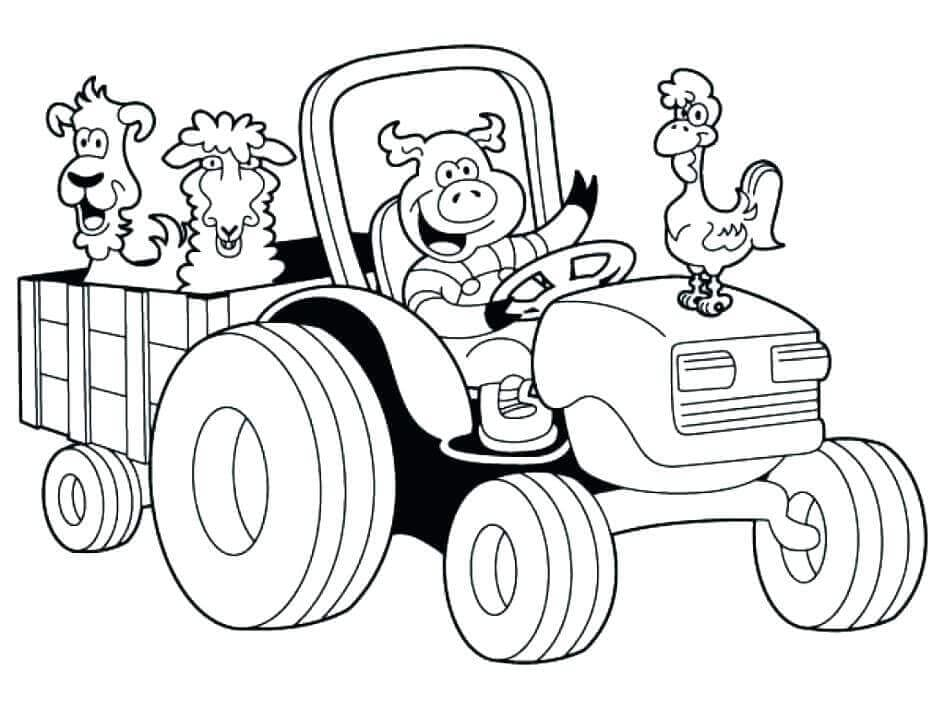 Funny Farm Animal coloring image