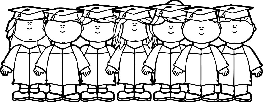 Graduate Kids Coloring Sheets Printable