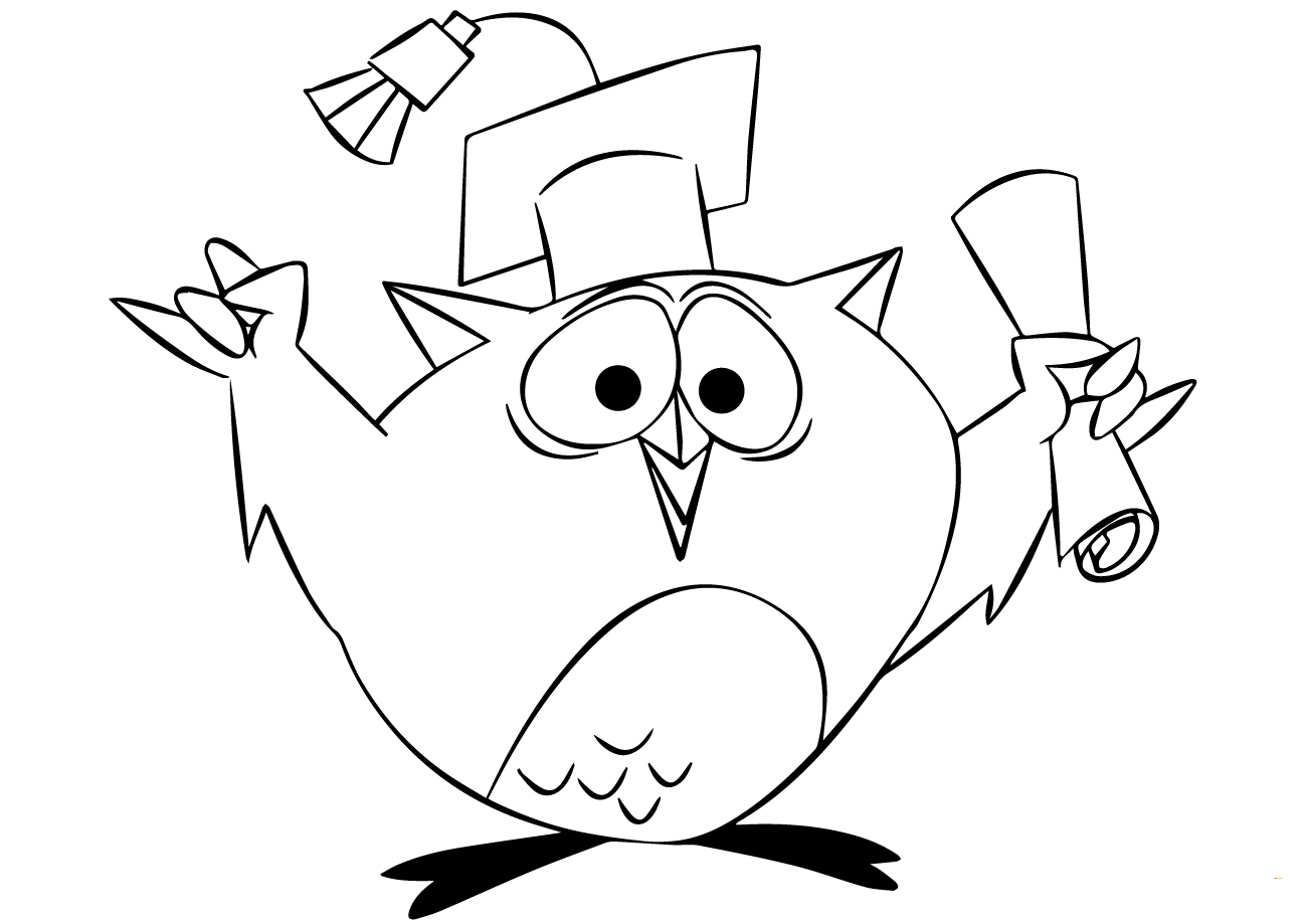Graduating Coloring Pages