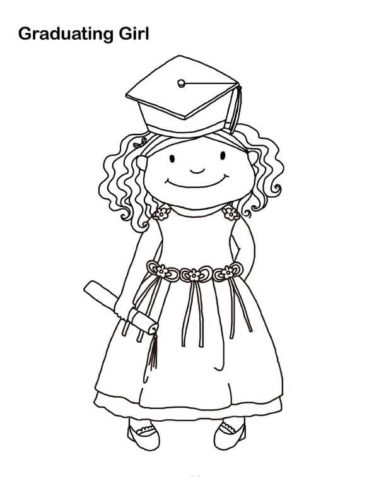 Graduation colouring pages