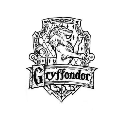 Gryffondor Harry Potter coloring page