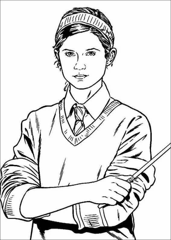 Harry Potter coloring pages Ginny Weasly