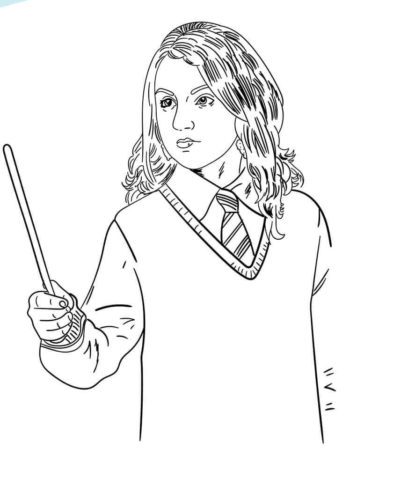 Harry Potter: Free online coloring pages, artwork and drawings | 500x415