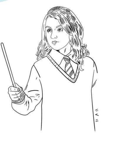 Harry Potter coloring pages Luna
