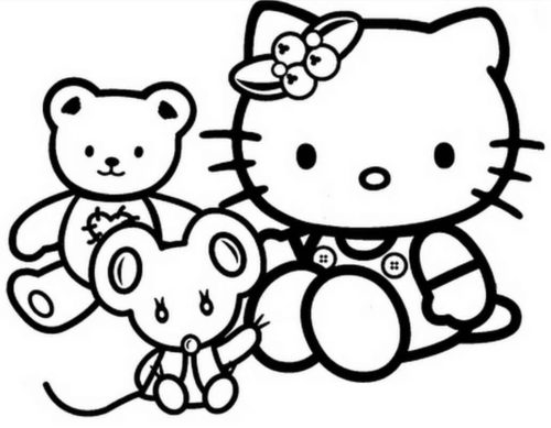 Hello Kitty Pages To Color