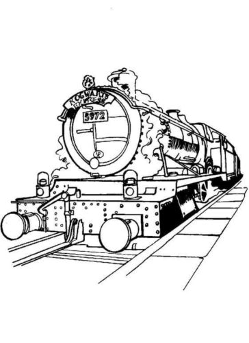 Hogwarts Train coloring page