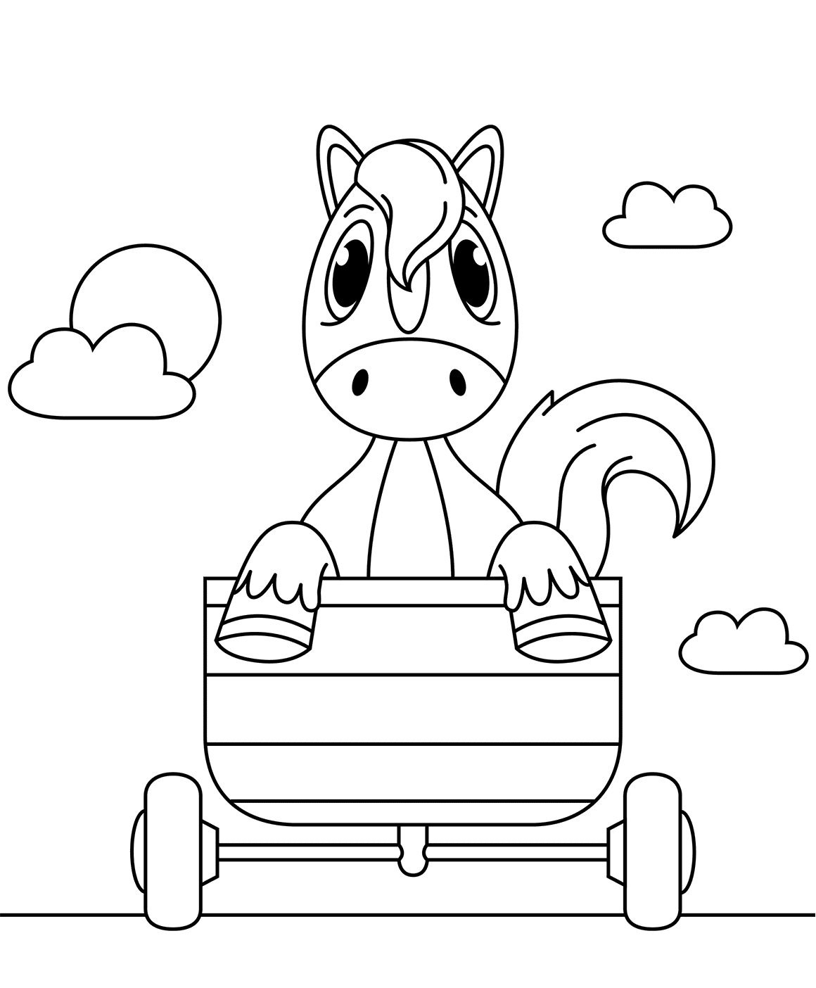 Horse Coloring Pictures For Kids