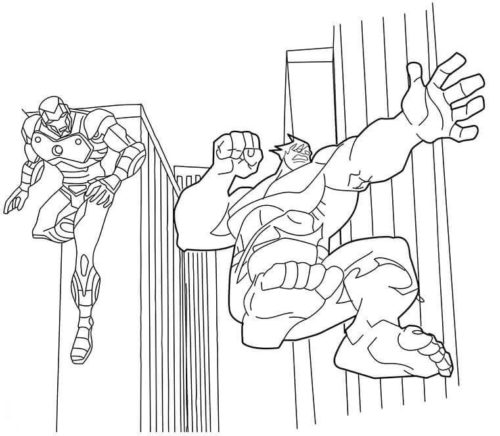 Hulk And Iron Man coloring page
