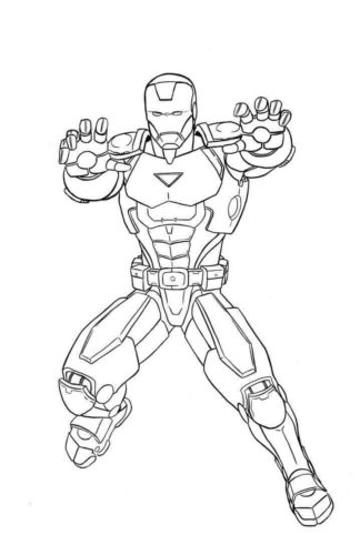 Iron Man In Action coloring page