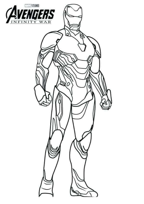 Coloring Pages Iron - Super Kins Author