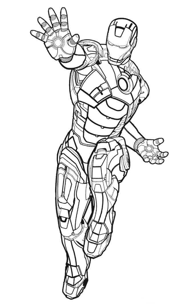 Iron Man Using His Powers coloring page