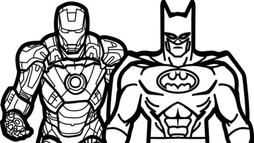Iron Man and Batman coloring pages