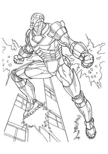 Iron Man coloring pages free