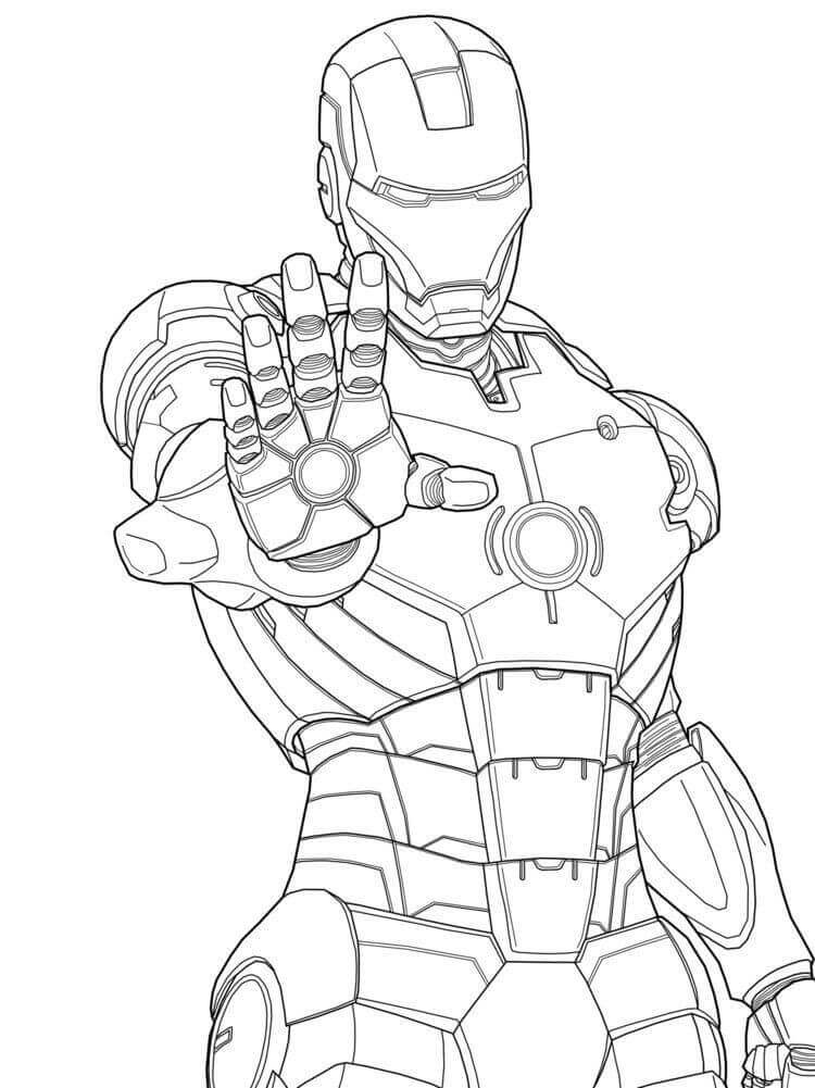 Iron Man coloring pictures to print