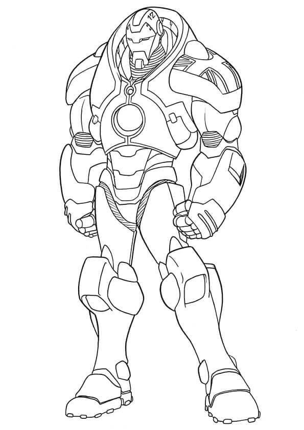 Iron Man new costume coloring page