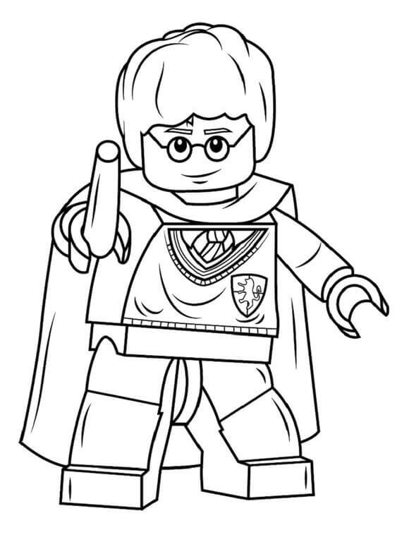 Lego Harry Potter coloring page