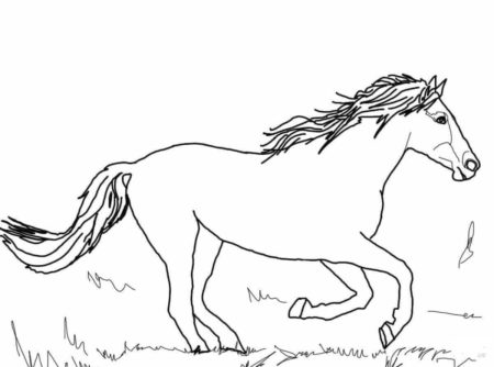 Mustang Coloring Page