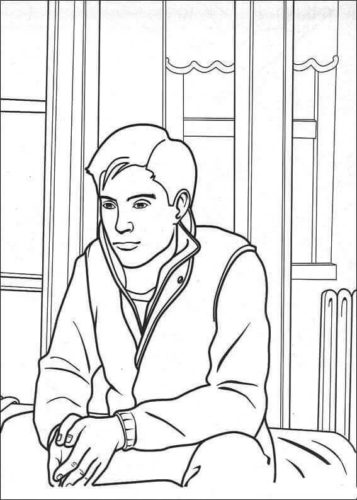 Peter Parker Coloring Page