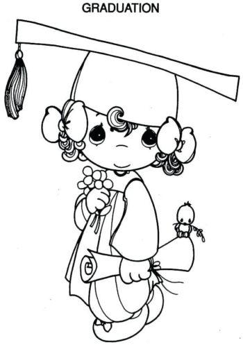 Precious Moments Graduation coloring page