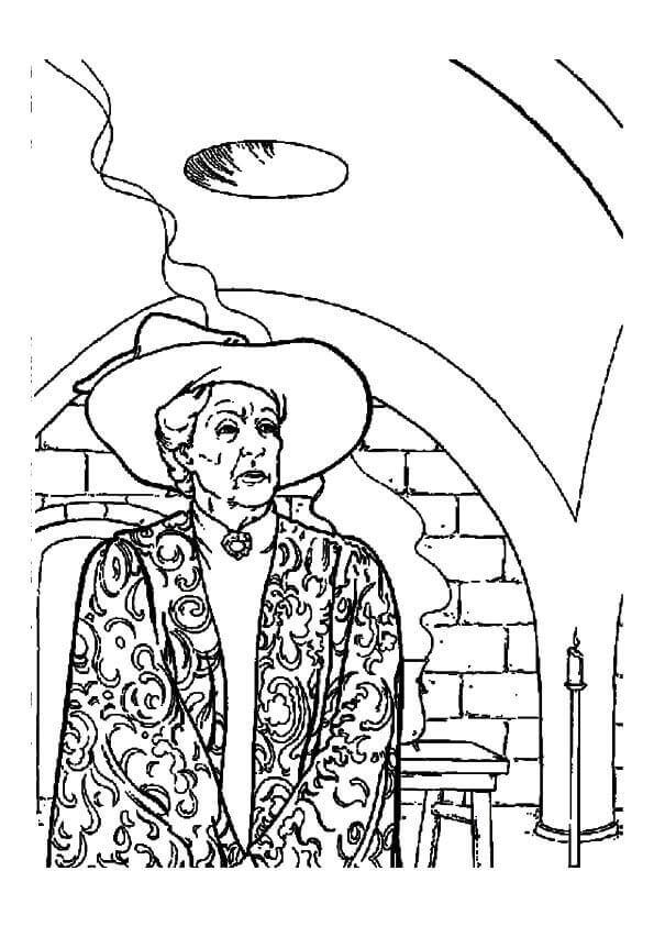 Professor Minerva Mcgonagall coloring page