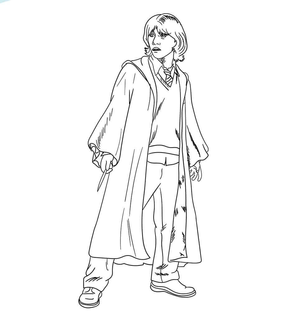 Ron Weasly from Harry Potter coloring page