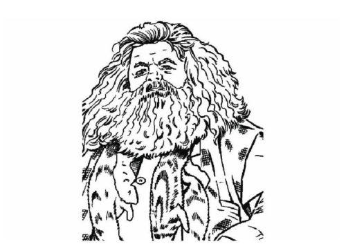 Rubeus Hagrid Coloring Page