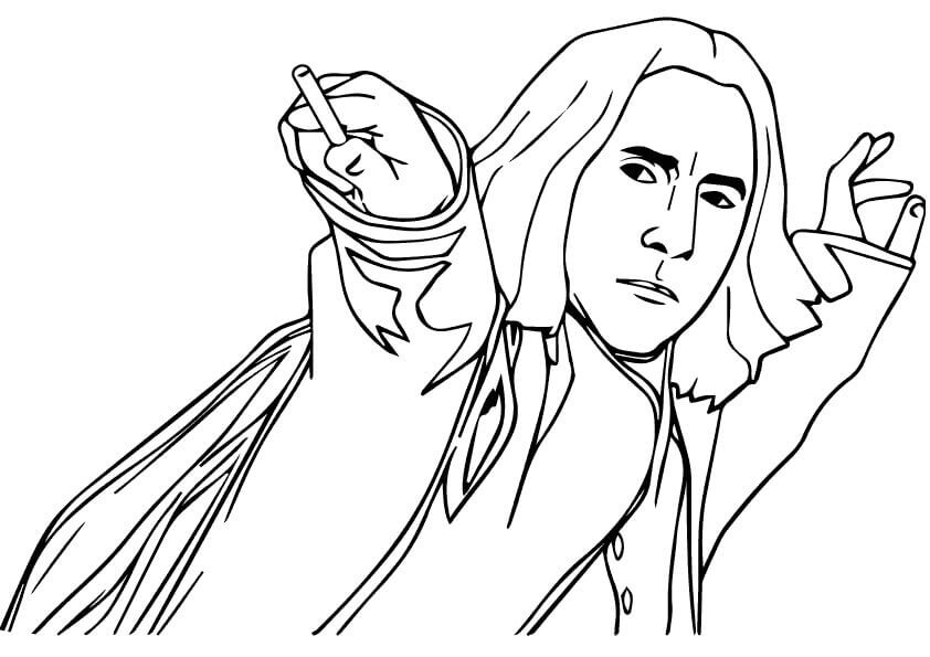 Severus Snape from Harry Potter coloring sheet