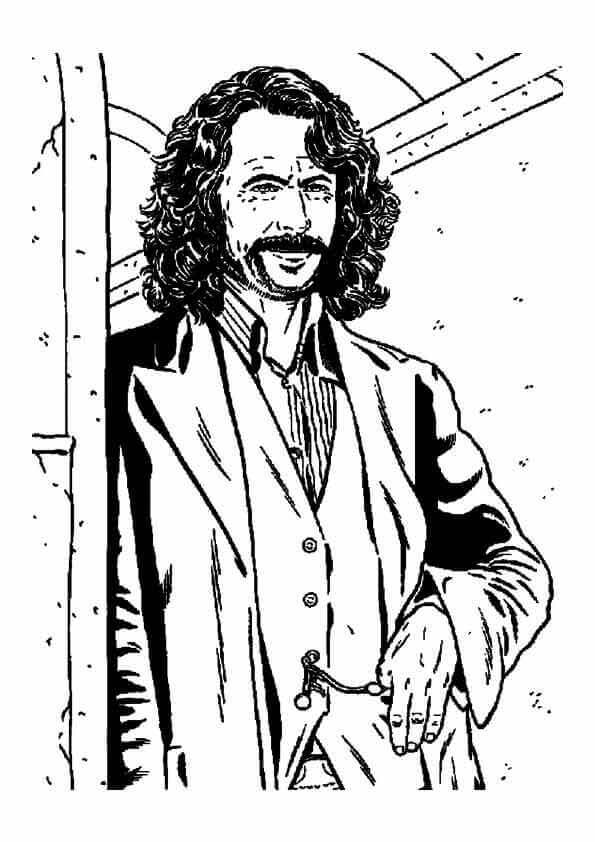 Sirius Black from Harry Potter coloring page