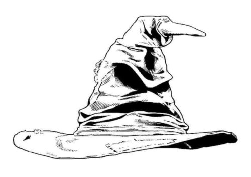 Sorting Hat coloring page