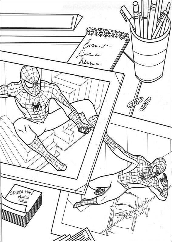 Spider Man Coloring Pages PDF