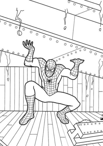 Spider Man Coloring Pictures