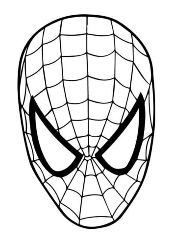 Spider Man Mask Printable
