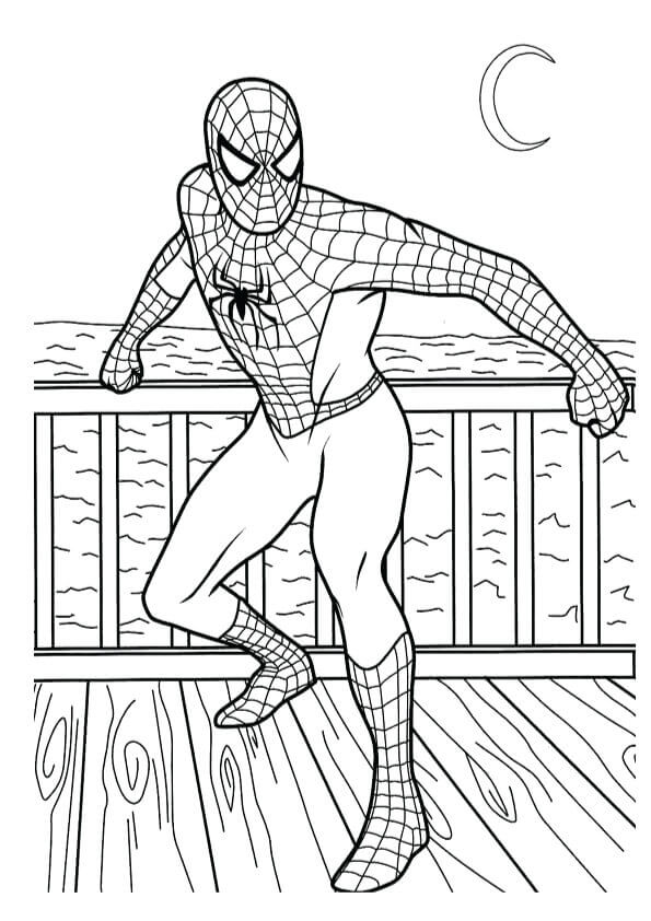 Spiderman Homecoming Coloring Page