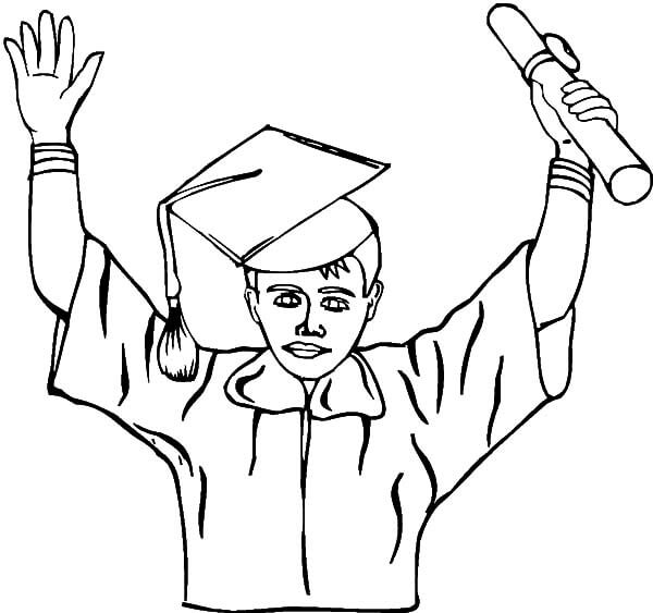 Student Graduating coloring page
