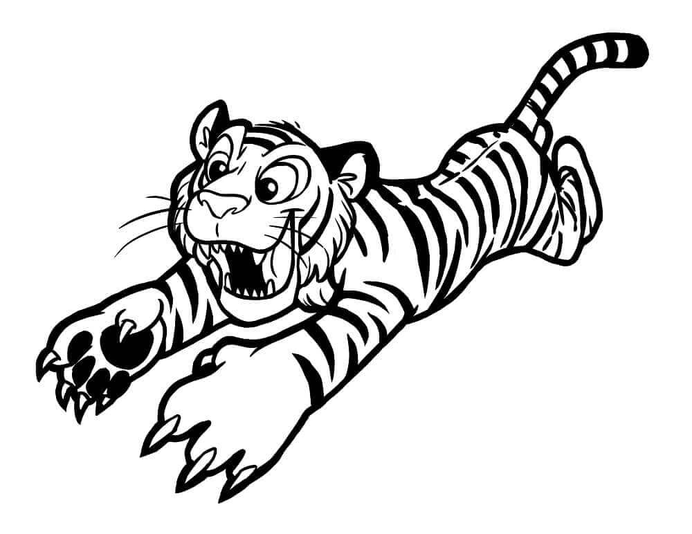 Tiger pages to color