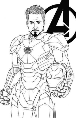 Tony Stark coloring page
