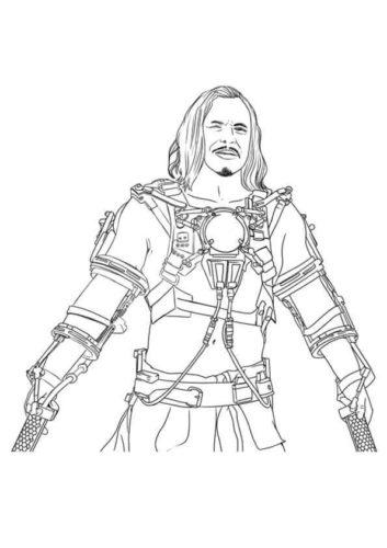 Whiplash Iron Man coloring page