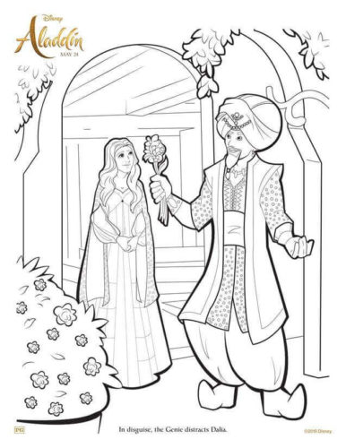 Aladdin 2019 Coloring Pages