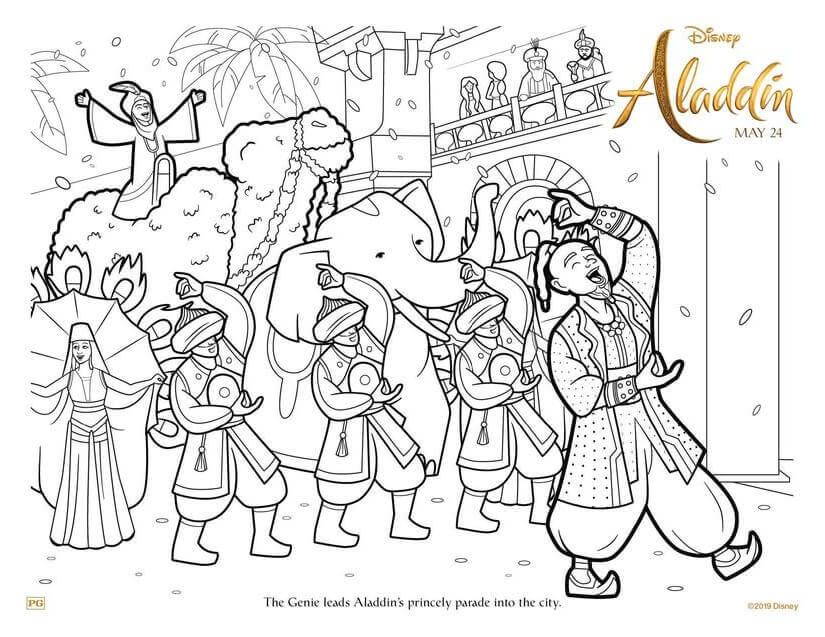 Aladdin 2019 Coloring Pictures